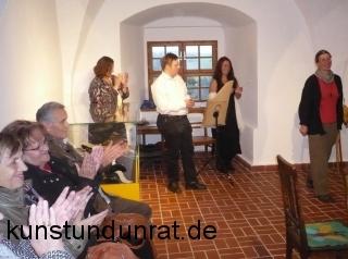 Uta Liebing eröffnet die Ausstellung